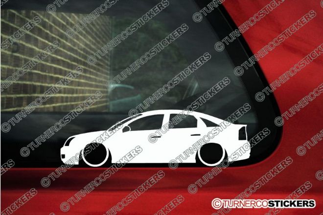 2x LOW Vauxhall / Opel Vectra C (2005-2008 ) ,TDCi, VXR, OPC facelift, silhouette stickers, Decals